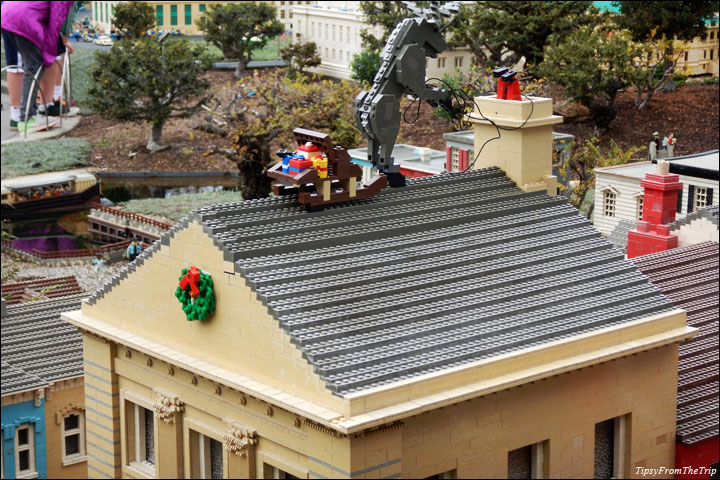 Lego exhibit at christmas time