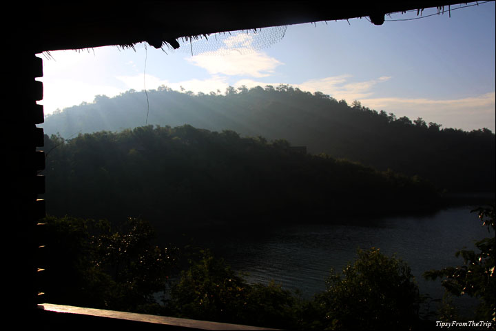 Bhadra Sunrise from the River Tern Lodge, Chickmagalur.