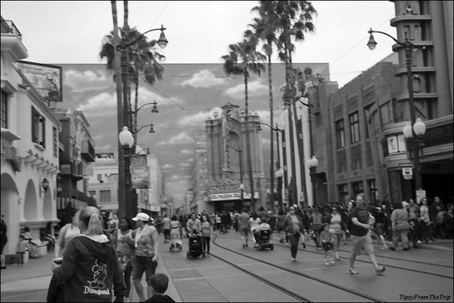 Hollywood Boulevard mural, California Adventure Park.