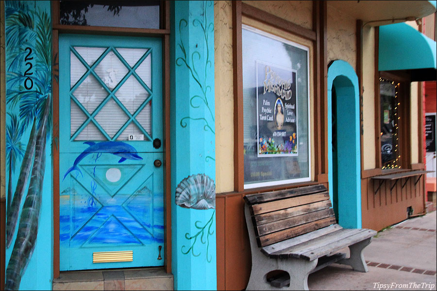 Door art, found in Capitola Village, California.