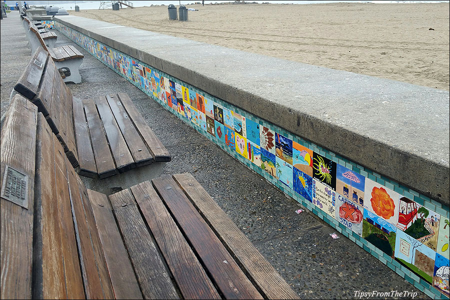 Tile art on Capitola's Seawall
