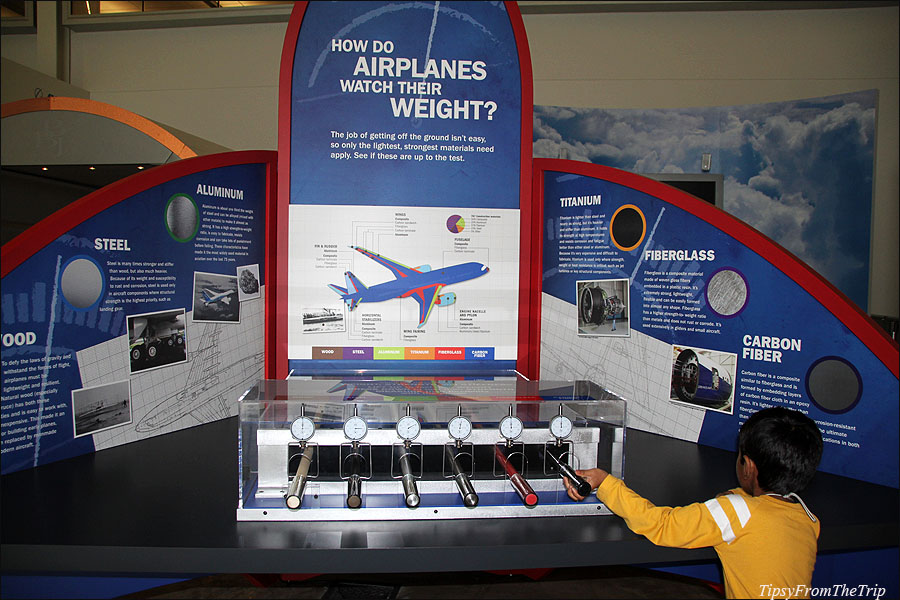 Airplane info exhibit at Future of Flight Aviation Center