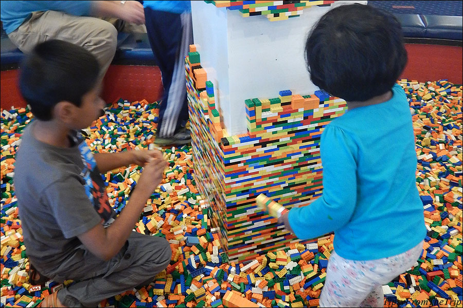 You can also play with Lego bricks at the Legoland Hotel lobby.