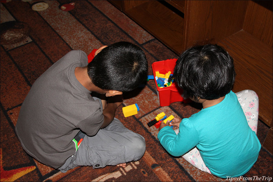 The guest rooms in Legoland Hotel gives you Lego bricks to play with.
