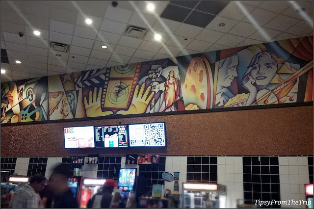 Movies mural from a theater near me| Tipsy from the TRIP