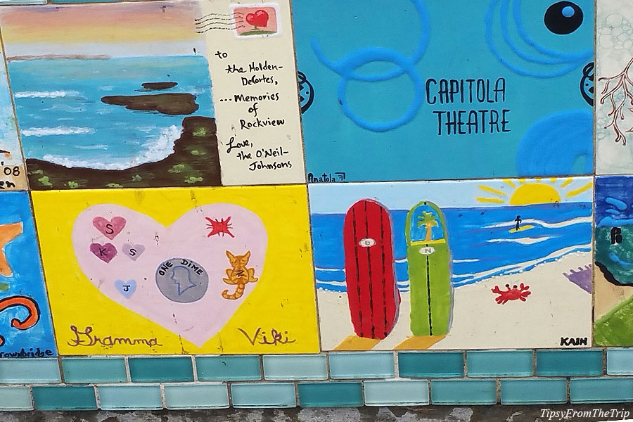 Tile art on seawall, Capitola, CA