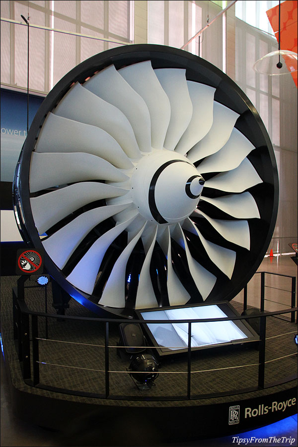 Engine exhibited at Future of Flight Aviation Center, WA