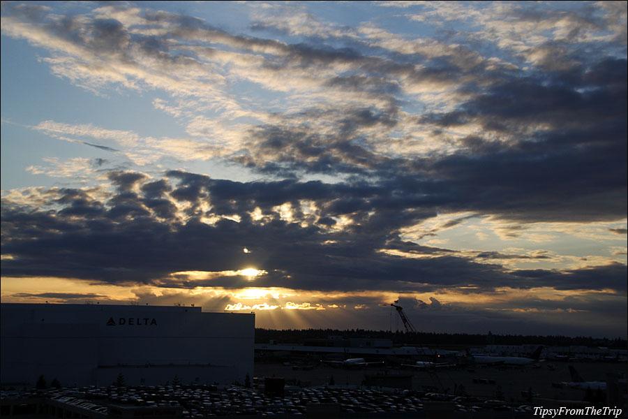 Evening light, SeaTac Airport