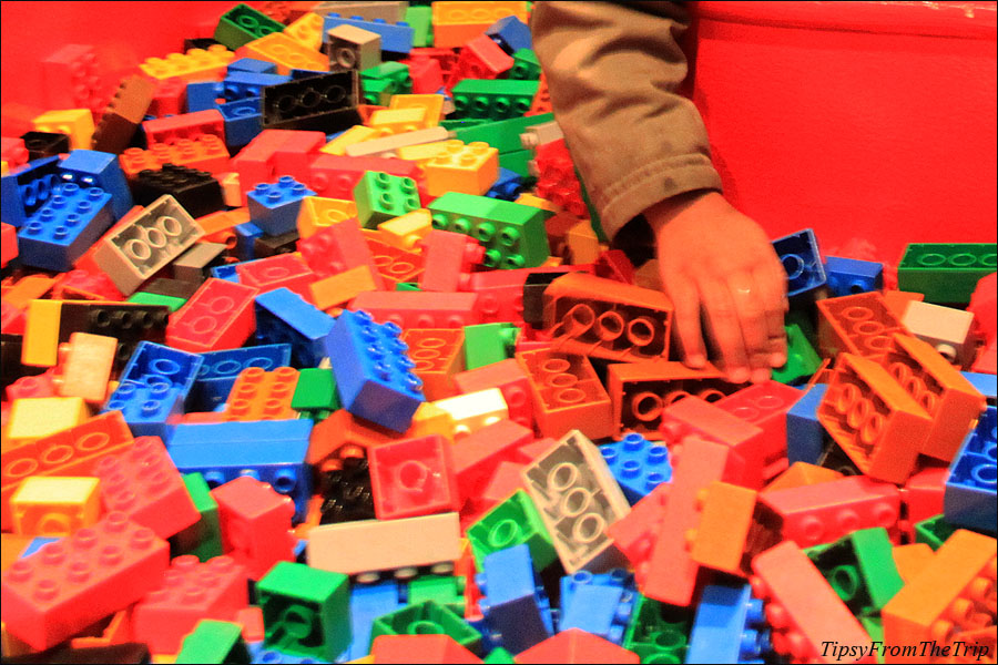 Bricks to play with at Legoland, CA.