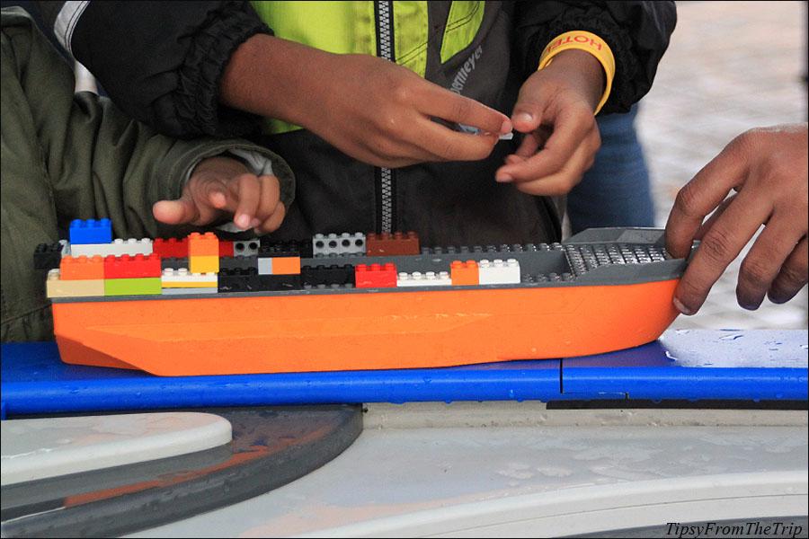 Building a ship at Legoland, CA