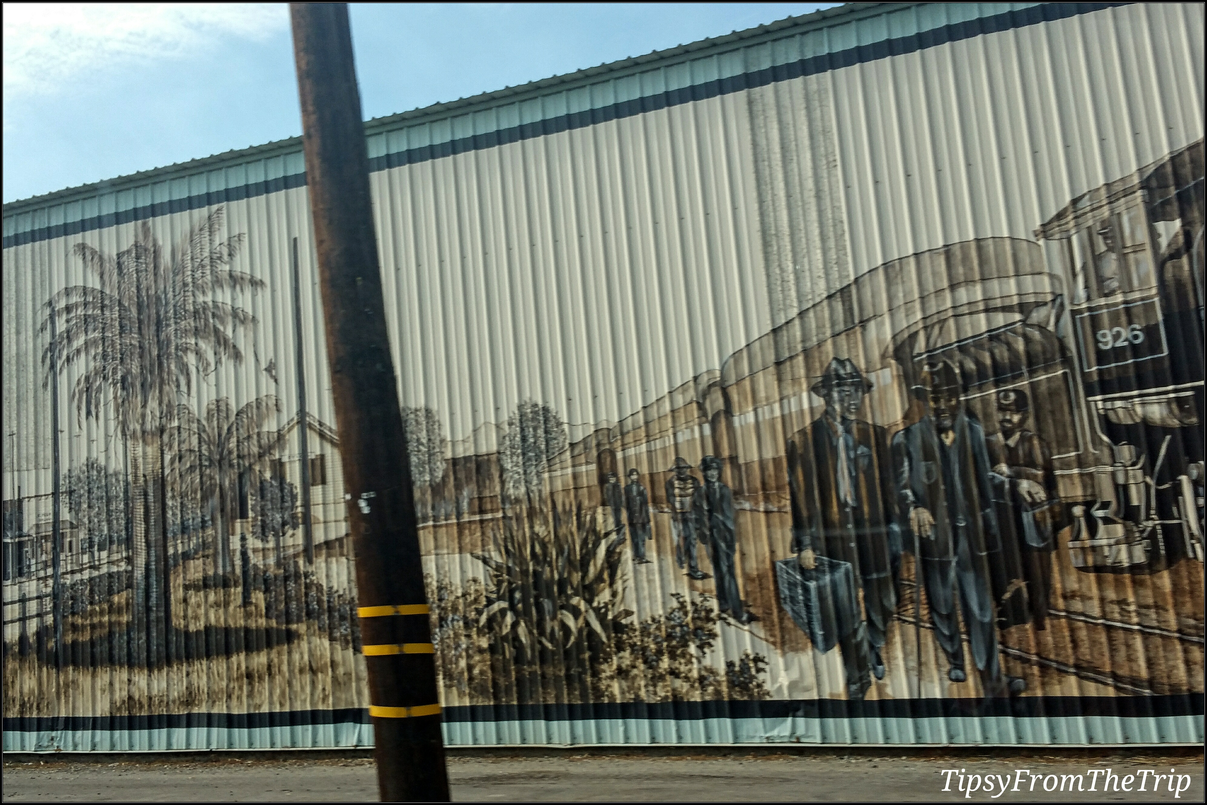 Byron train mural