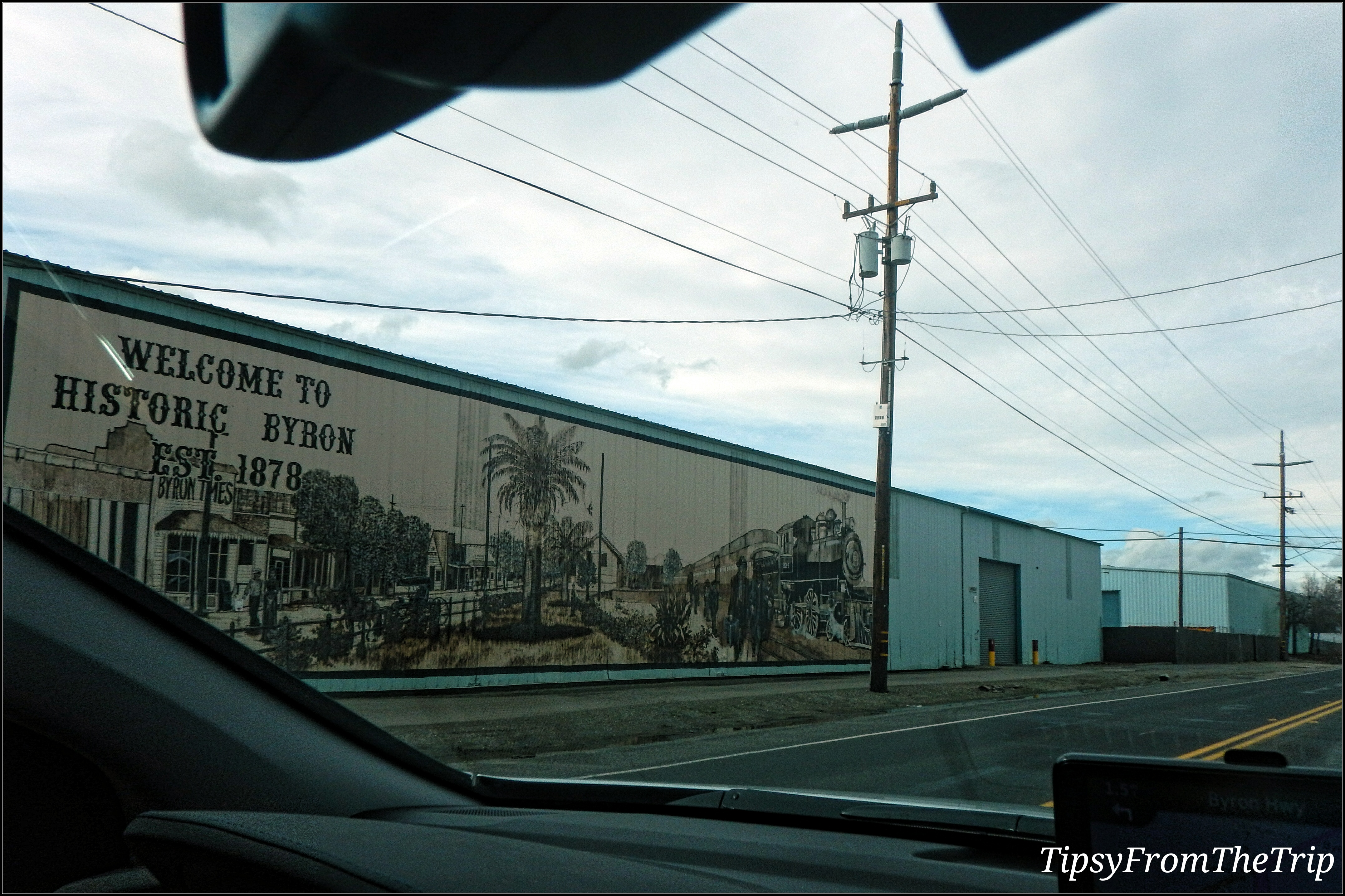Welcome to Historic Byron mural