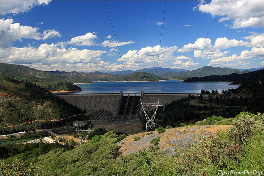 Shasta Lake and Shasta Dam