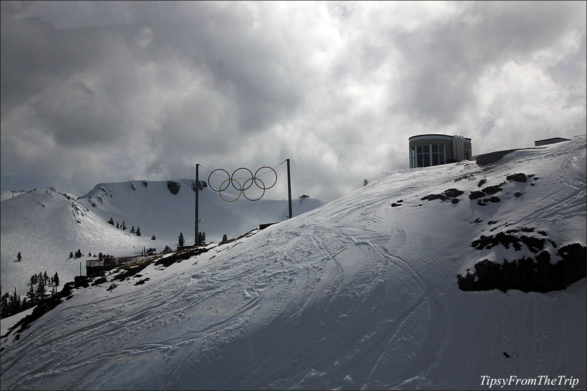 The scenic snow clad slopes of squaw valley tipsy from - High camp swimming pool squaw valley ...