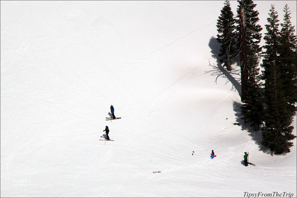 Squaw Valley Ski Resort on the Sierra Nevada Mountains in CA