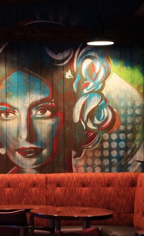 Mural at Kanpai restaurant, Reno