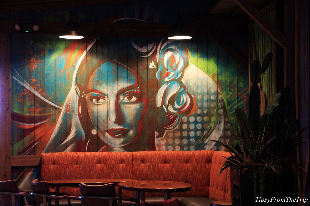 Mural at Kanpai Sushi restaurant in Circus Circus, Reno.