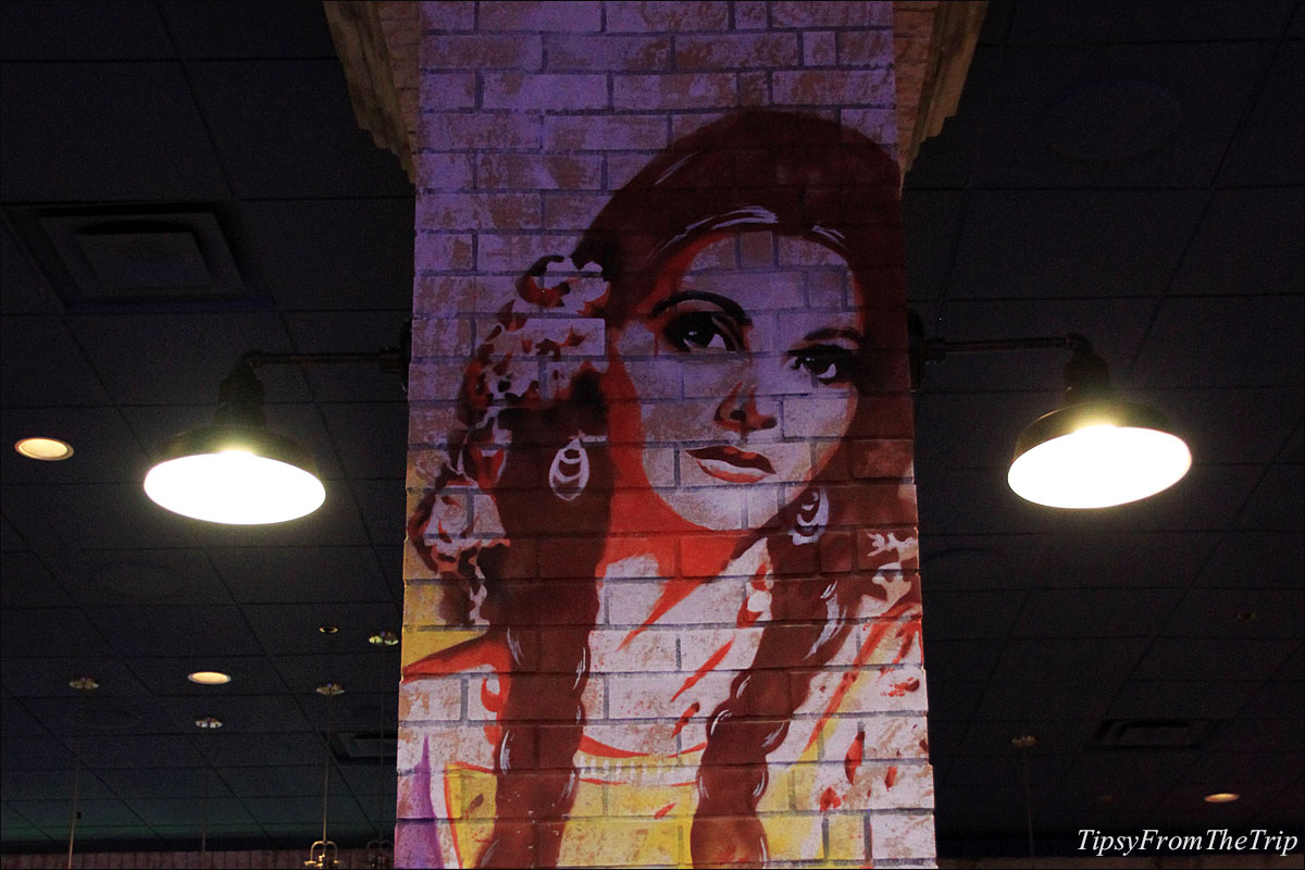 Graffiti -style mural at Kanpai Sushi restaurant in Circus Circus, Reno.