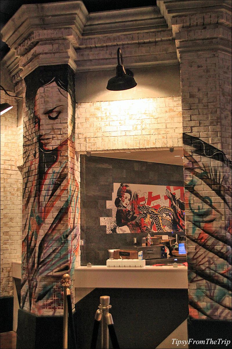 Kanpai restaurant murals