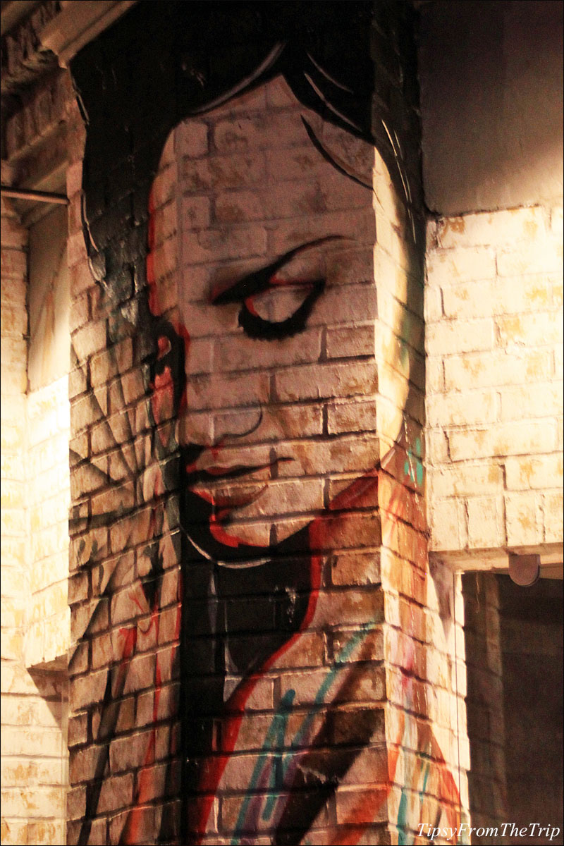 Street art type mural, Circus Circus.