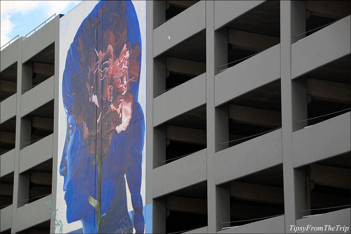 Parking garage mural, Reno - 1