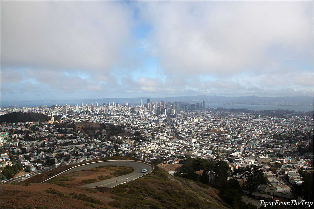 A bird's eye view of San Francisco from Christmas Tree Point near Twin Peaks