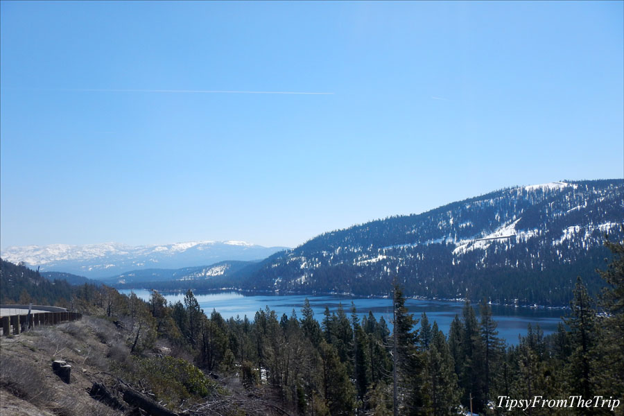 Donner Lake viewpoint on Interstate 80