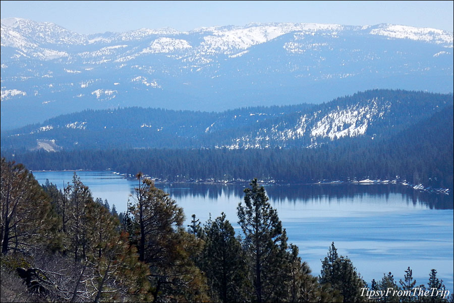 Donner Lake from the viewpoint on I-80