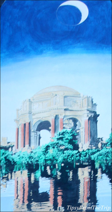 Palace of Fine Arts mural in San Francisco