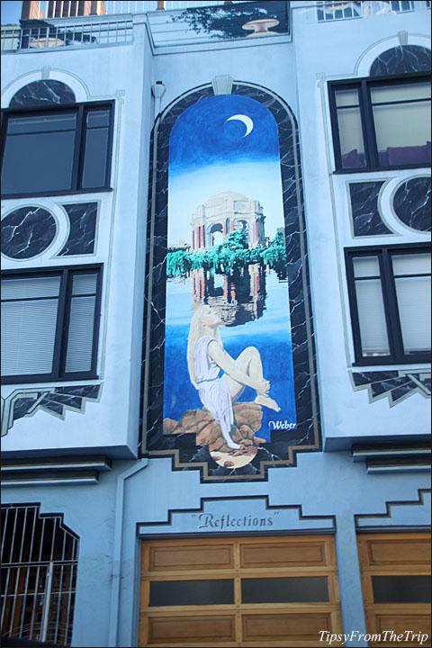 Palace of Fine Arts mural, San Francisco.