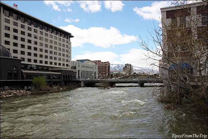 Truckee River passing through Reno, Nevada.