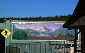 Found in Burney: Thousand Lakes Wilderness mural