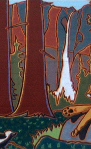 Wildlife Mural, Three Rivers, CA